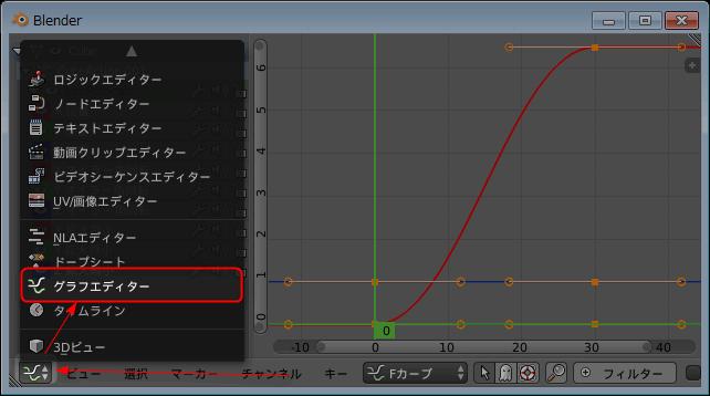 グラフエディタへの切り替え方法1