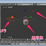 【Blender】3DCGソフトの基本的な流れと3つの要素【被写体・ランプ・カメラ】