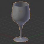 【Blender】ワイングラスっぽいオブジェクトのモデリング方法